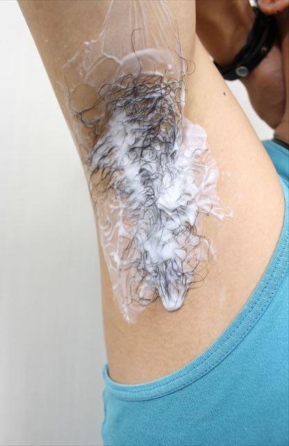 Nullリムーバークリームを使って脇毛除毛する画像12