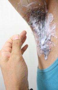 Nullリムーバークリームを使って脇毛除毛する画像16
