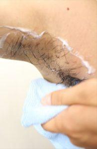 Nullリムーバークリームを使って脇毛除毛する画像25