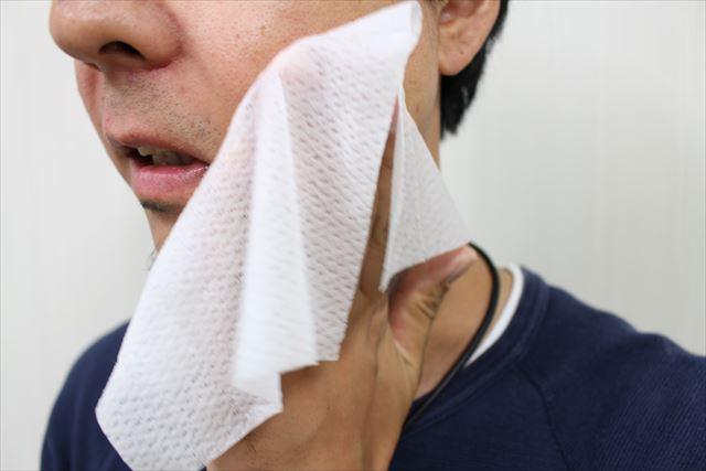 フェイスシートで顔を拭くマンモススタッフの画像2