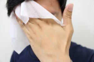フェイスシートで顔を拭くマンモススタッフの画像3
