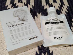 バルクオム洗顔本体と箱を並べた画像