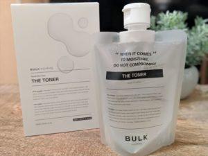 バルクオム化粧水本体と箱の画像