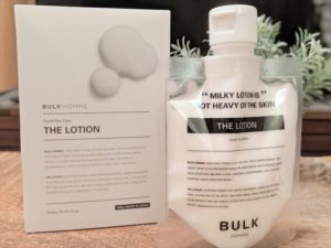 バルクオム乳液のボトルと箱の画像2